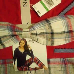2 piece sleepwear set nautica size large